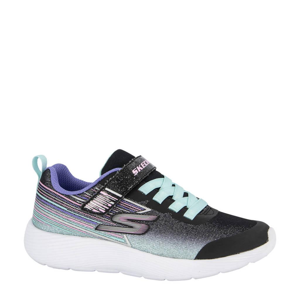 Skechers   sneakers zwart/paars, Zwart/paars