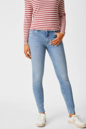 skinny jeans met biologisch katoen lichtblauw