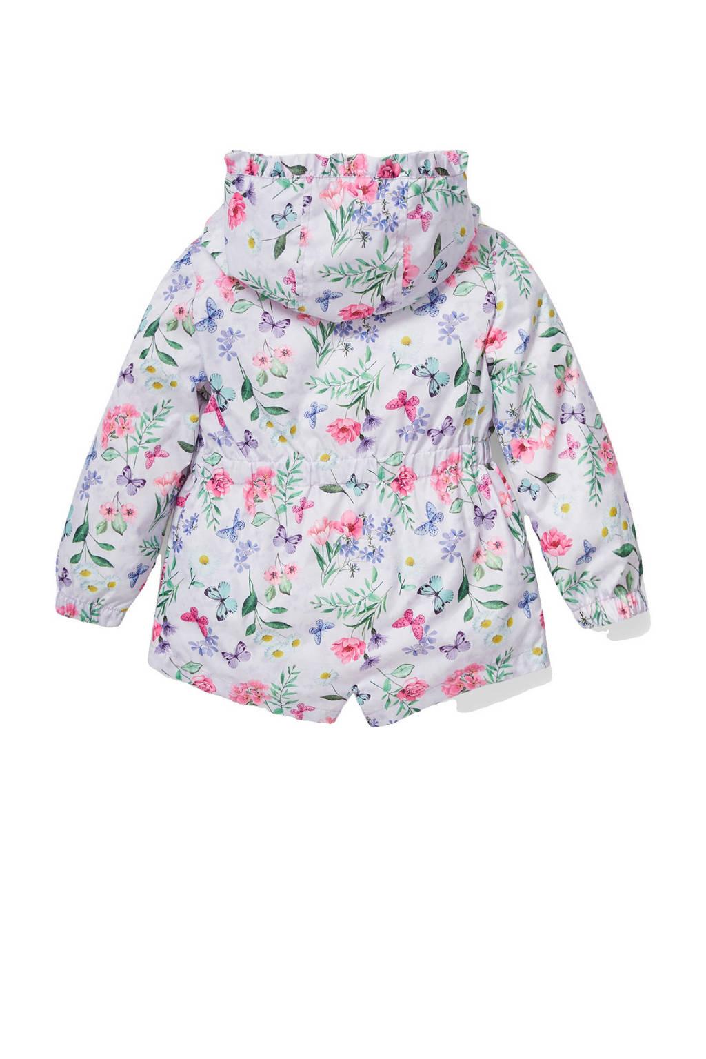 C&A Palomino gebloemde  zomerjas lila/wit/roze/groen, Lila/wit/roze/groen