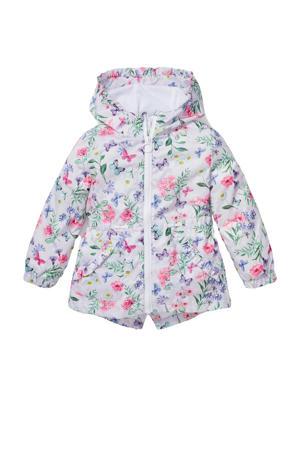 gebloemde  zomerjas lila/wit/roze/groen