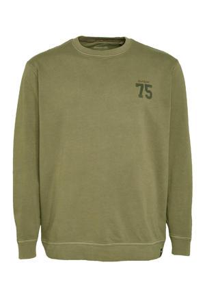 sweater van biologisch katoen olijfgroen