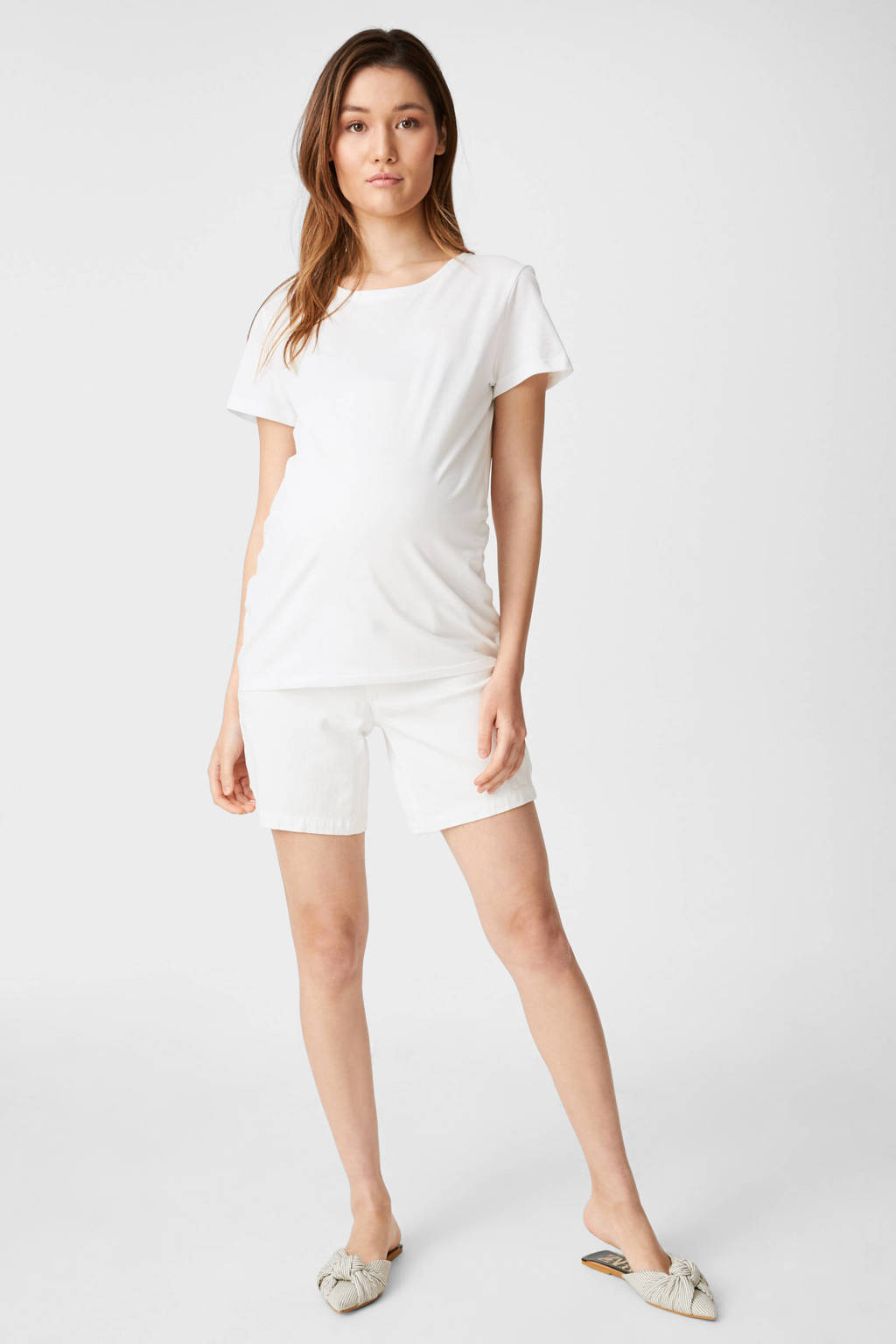 C&A Yessica zwangershapsshirt - set van 2 zwart/wit, Zwart/wit
