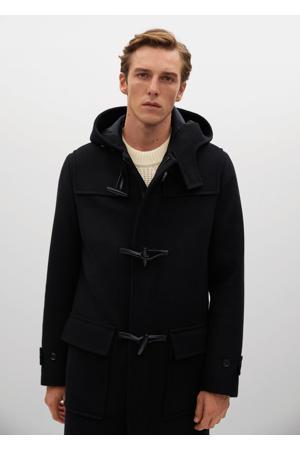 tussenjas met wol zwart
