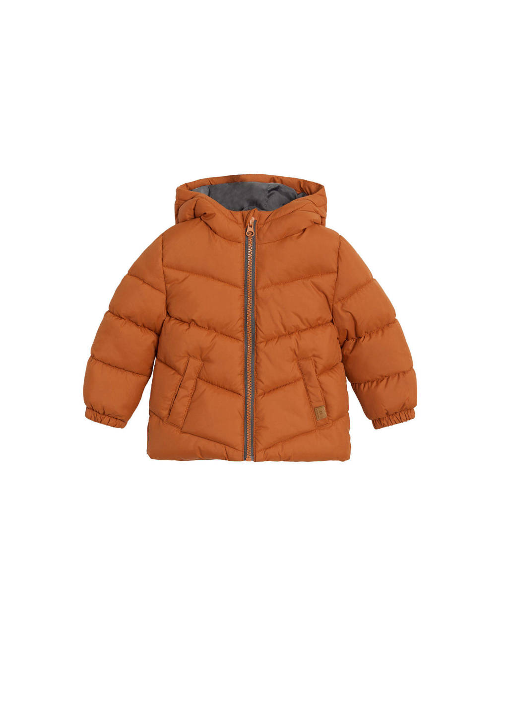 Mango Kids anorak winterjas oranje, Oranje