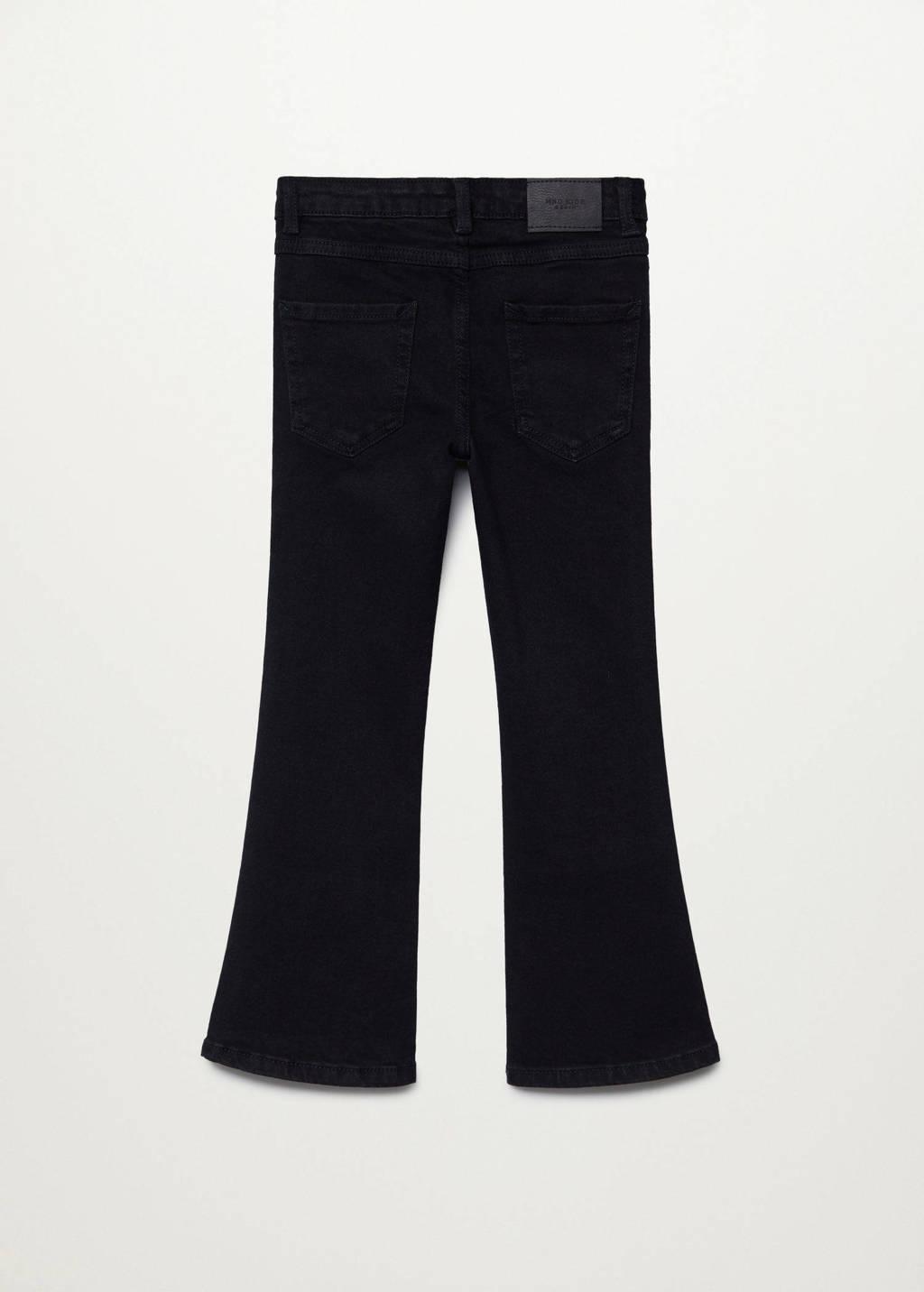 Mango Kids flared jeans antraciet, Antraciet