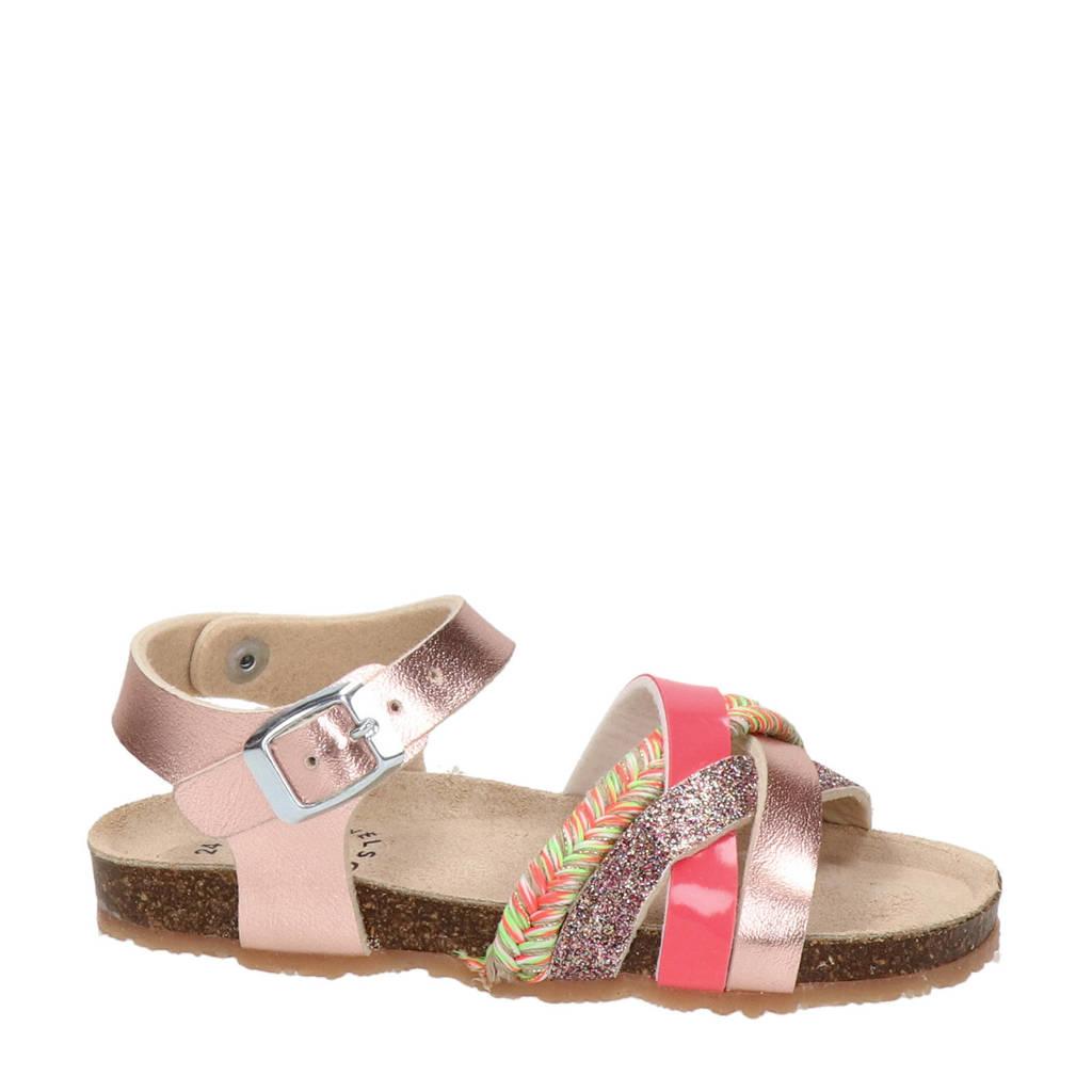 Nelson Kids   sandalen met glitters roze, Roze/multi