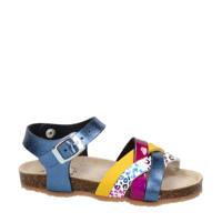 Nelson Kids   sandalen met panterprint blauw, Blauw/multi