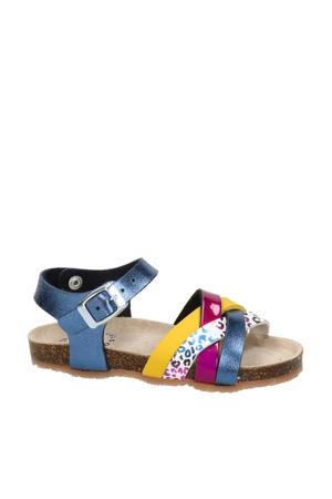 sandalen met panterprint blauw