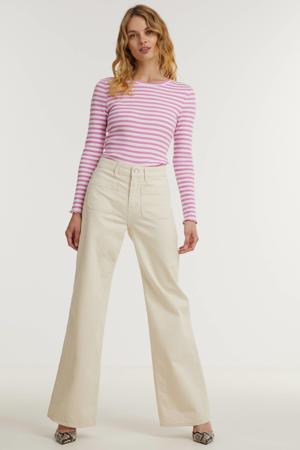 high waist flared jeans JANE SAILOR ecru