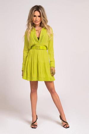 A-lijn jurk Summer met kant geel