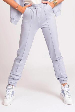 high waist wide leg broek Punta met borduursels lichtblauw