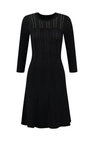 semi-transparante A-lijn jurk Gaby zwart