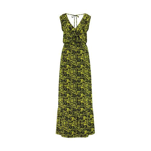 NIKKIE maxi jurk Snakey met slangenprint donkergroen
