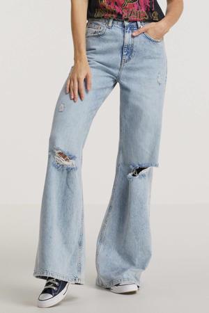 high waist wide leg jeans Gaia blauw