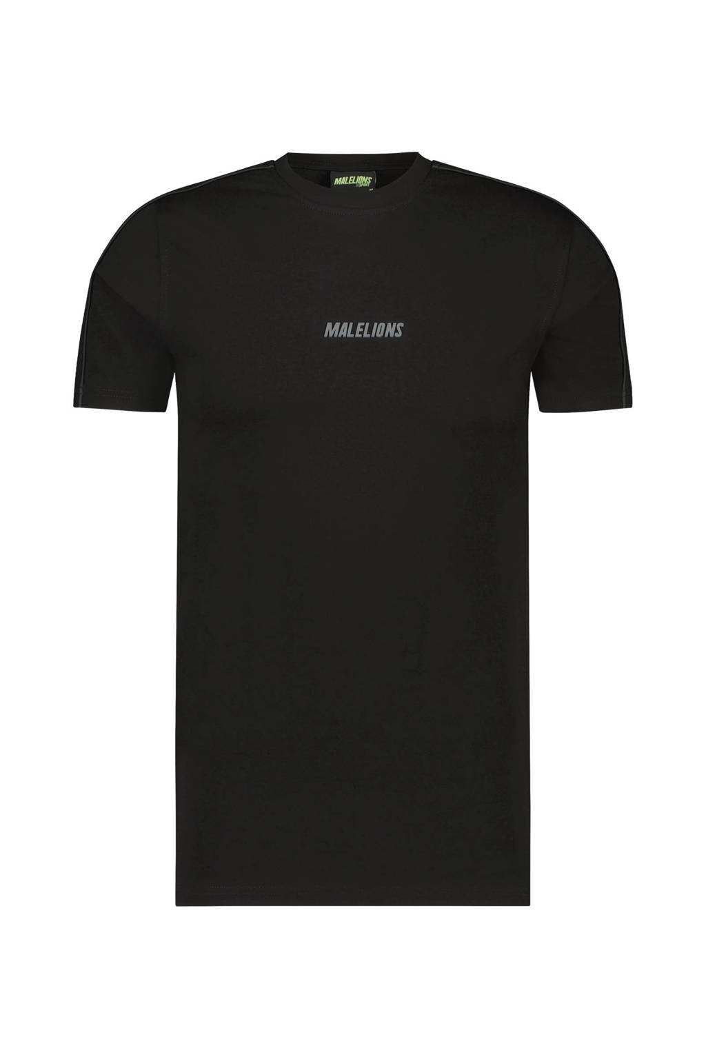 Malelions T-shirt Coach zwart/antraciet, Zwart/antraciet