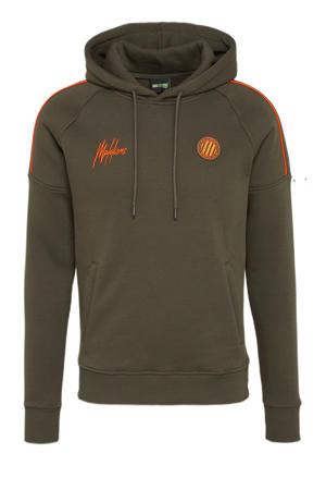 hoodie Coach army/oranje