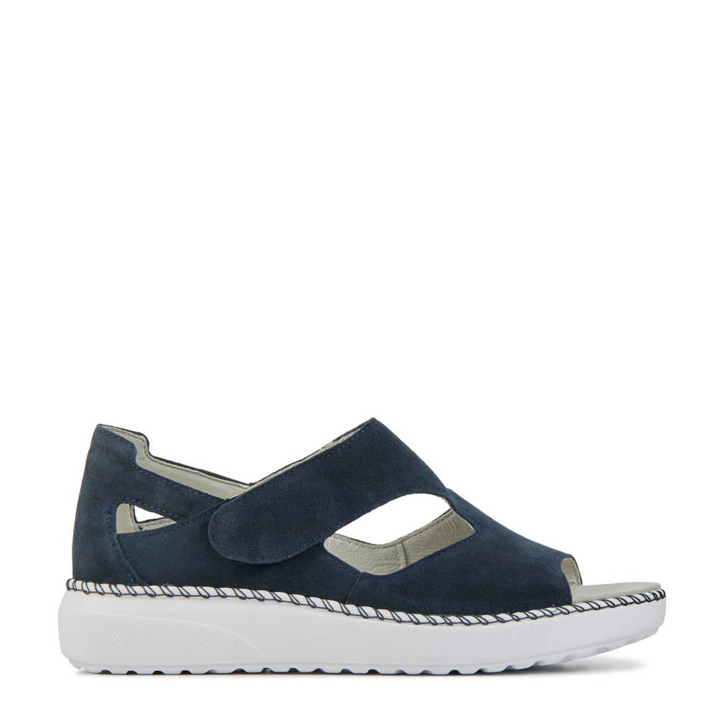 Waldlaufer 731802 comfort suède sandalen blauw, Blauw