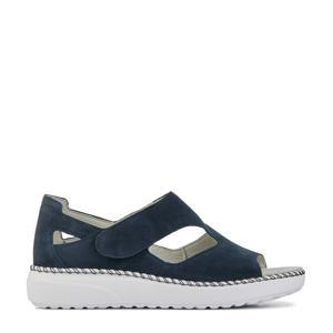 731802 comfort suède sandalen blauw