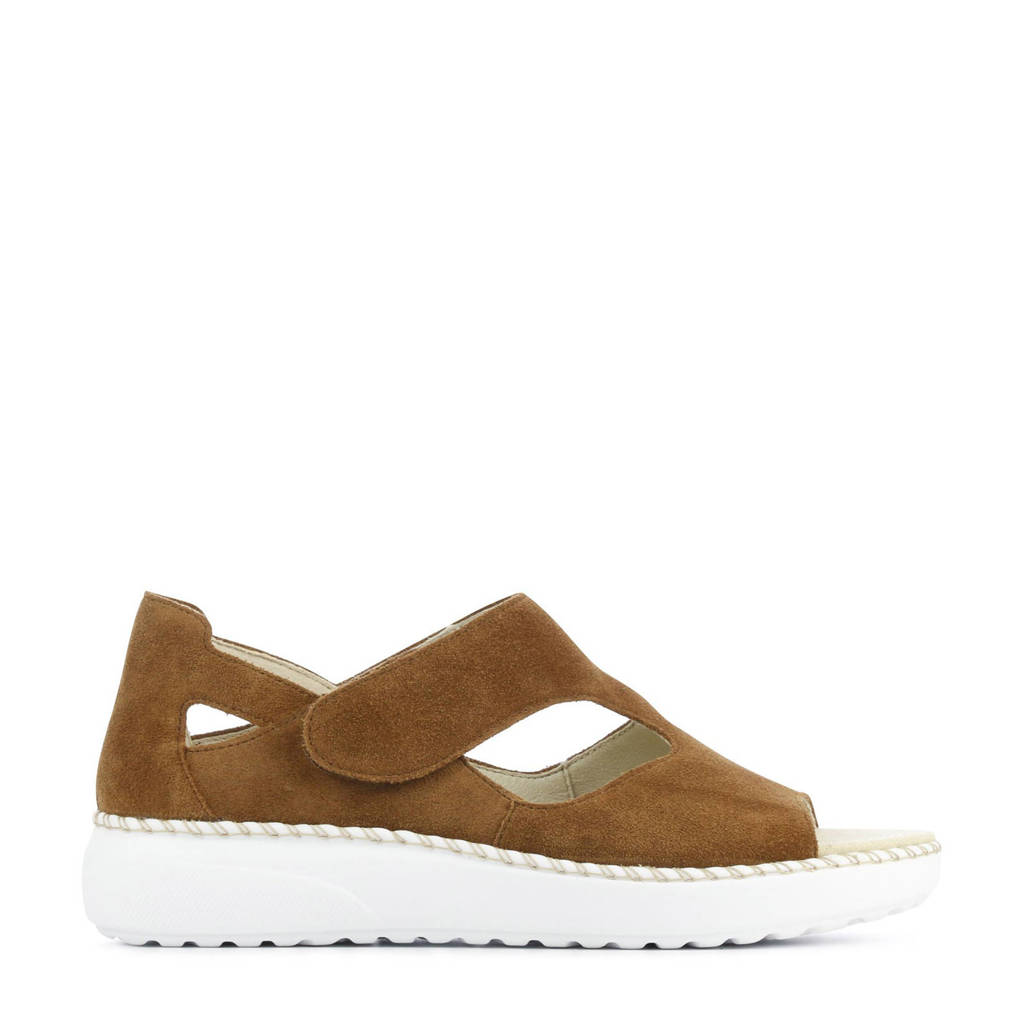 Waldlaufer 731802 comfort suède sandalen bruin, Bruin