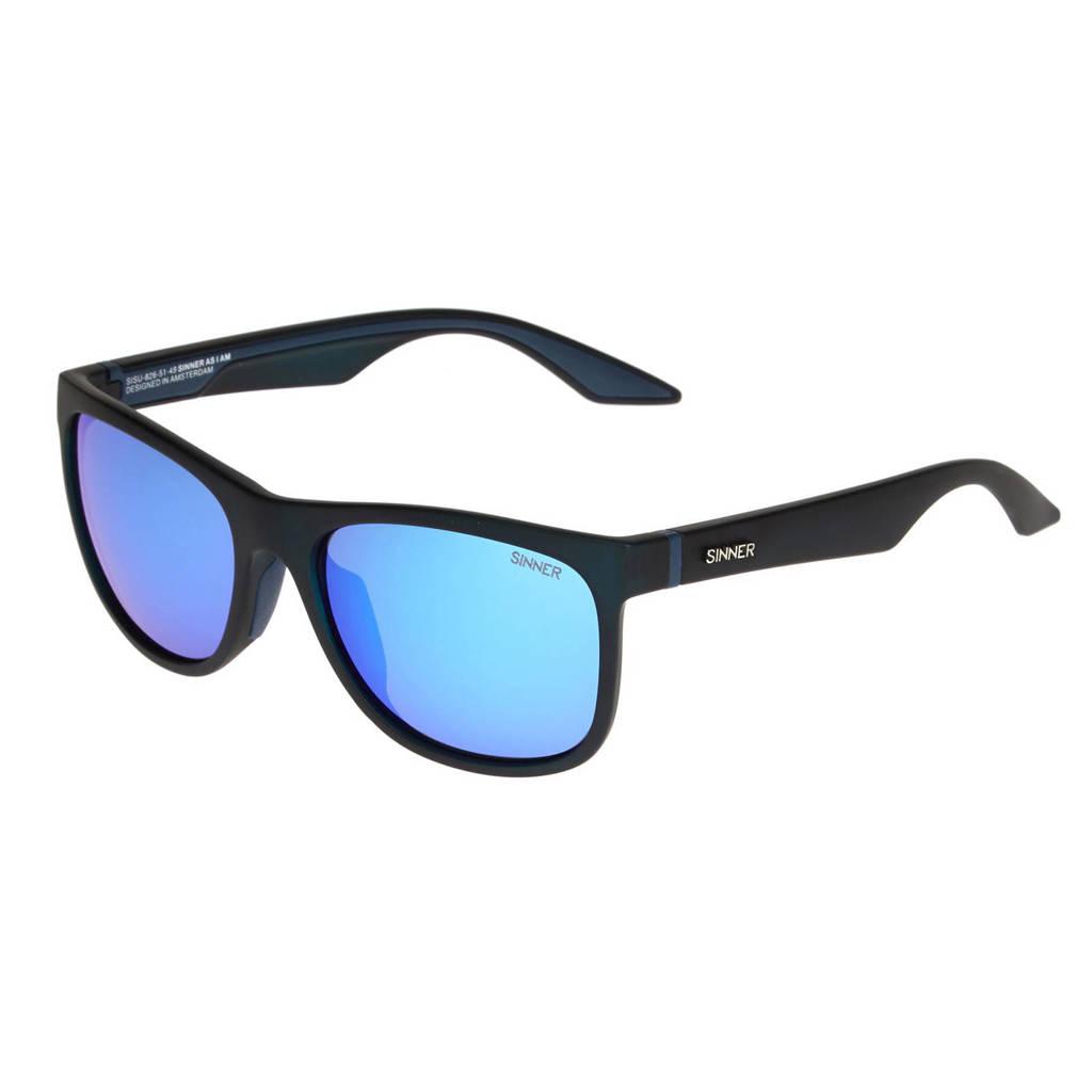 Sinner zonnebril Rockford zwart/blauw