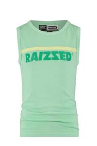 Raizzed mouwloos T-shirt Hidalgo met logo pastel groen, Pastel Groen