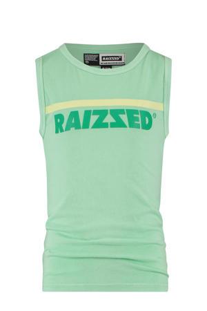 mouwloos T-shirt Hidalgo met logo pastel groen