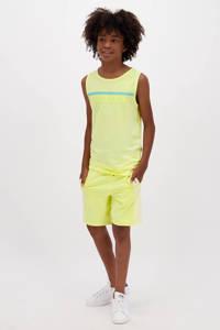 Raizzed mouwloos T-shirt Hidalgo met logo pastel geel, Pastel geel