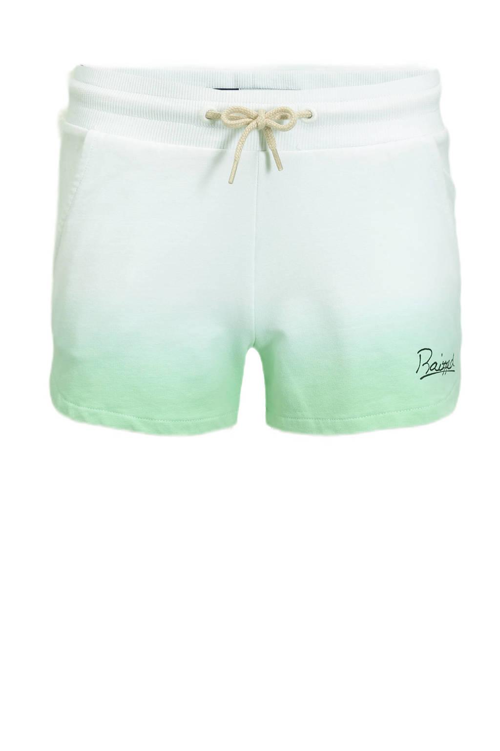 Raizzed dip-dyesweatshort Auston pastel groen/wit, Pastel groen/wit