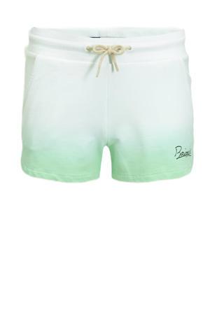 dip-dyesweatshort Auston pastel groen/wit