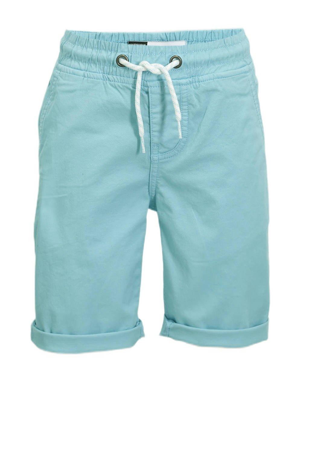 Raizzed regular fit bermuda Roman pastel blauw, Pastel blauw