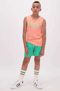 Raizzed mouwloos T-shirt Hidalgo met logo pastel perzik, Pastel perzik