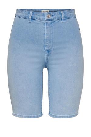 skinny fit bermuda jeans ONLROYAL met biologisch katoen lichtblauw
