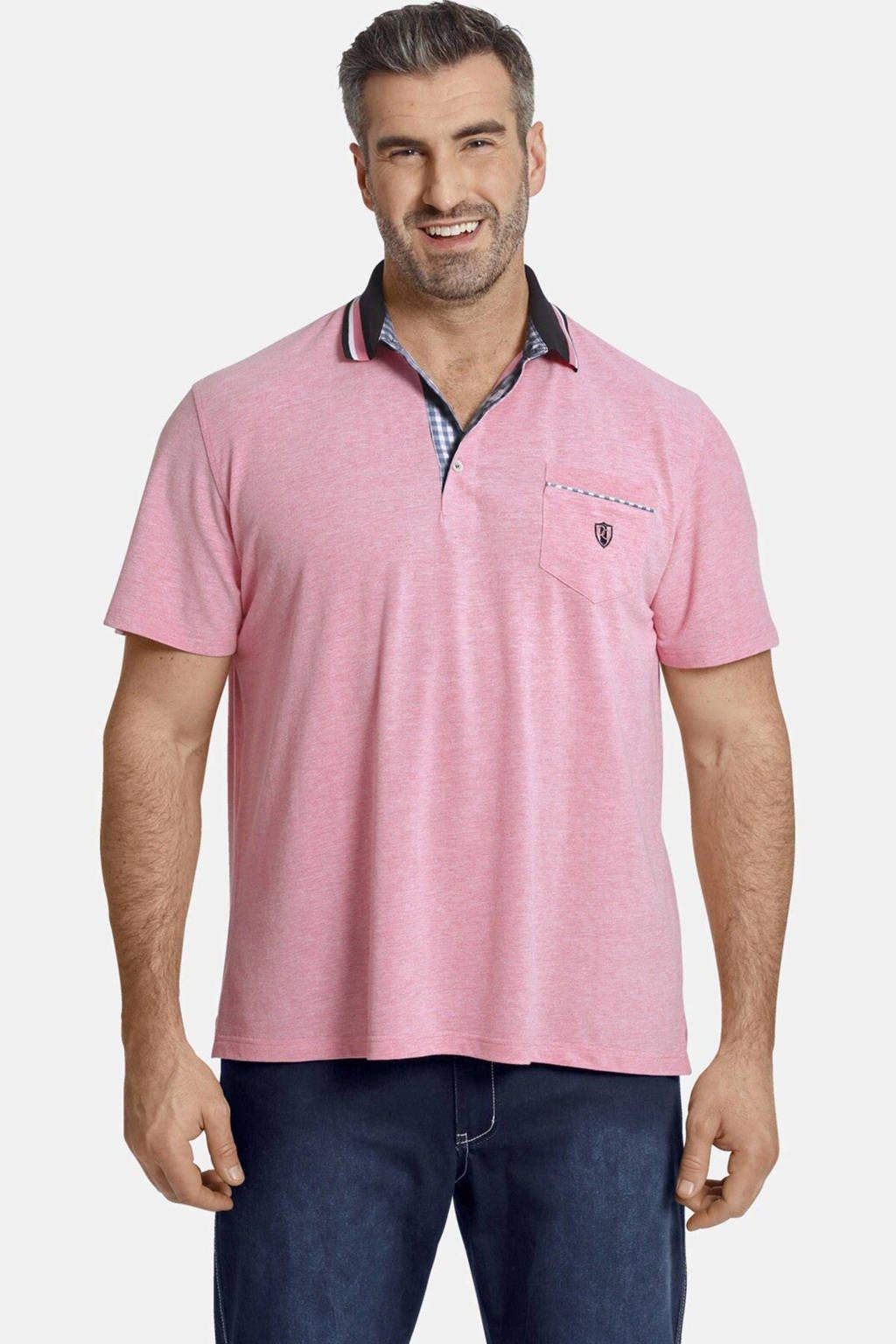 Charles Colby oversized polo EARL ZEON Plus Size met logo roze, Roze