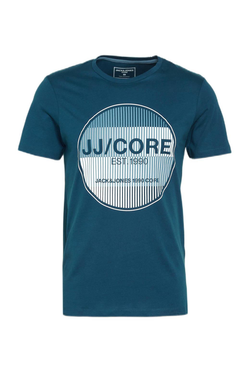 JACK & JONES CORE T-shirt Booster met printopdruk blauw, Blauw