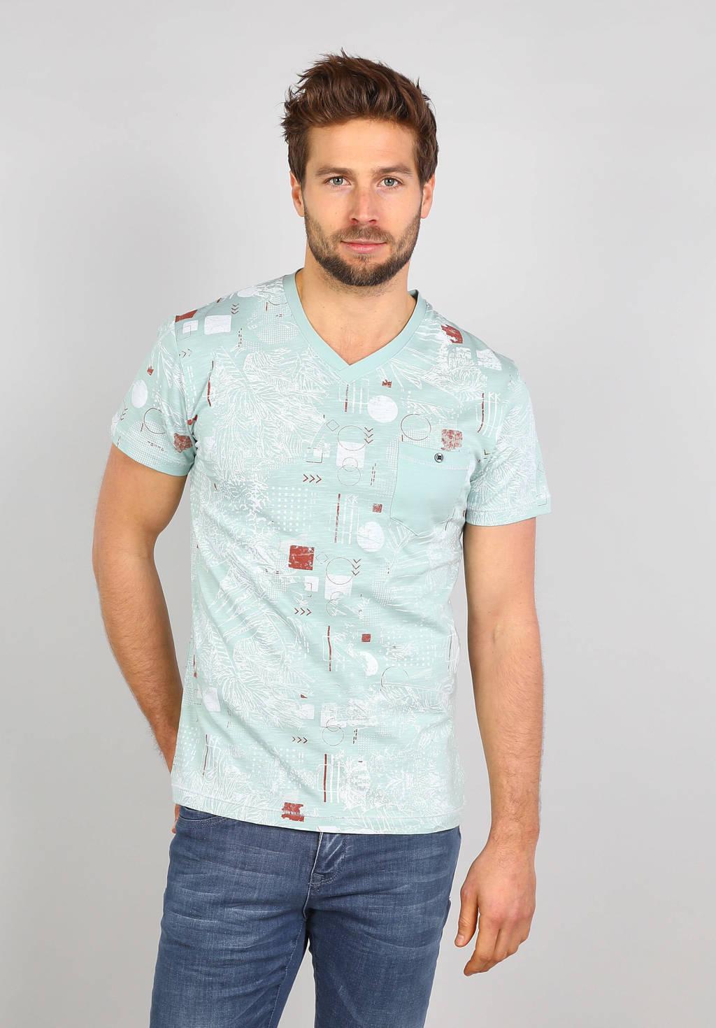 GABBIANO T-shirt met all over print lichtgroen, Lichtgroen