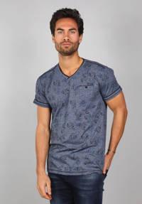 GABBIANO T-shirt met all over print donkerblauw, Donkerblauw