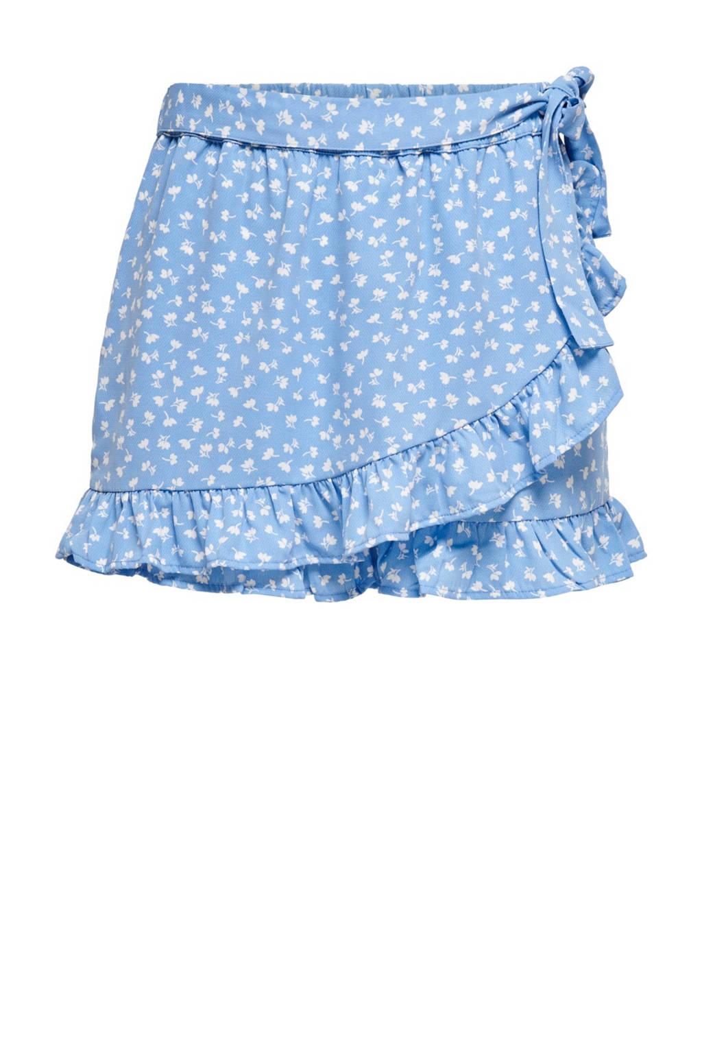 ONLY loose fit skort ONLMONZOOM  met all over print lichtblauw, Lichtblauw