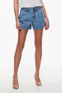 ONLY high waist jeans short ONLDEBBIE blauw, Blauw