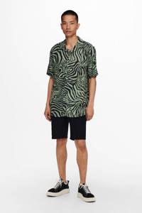 ONLY & SONS regular fit overhemd met dierenprint groen, Groen