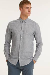 ONLY & SONS gemêleerd regular fit overhemd Caiden blauw, Blauw