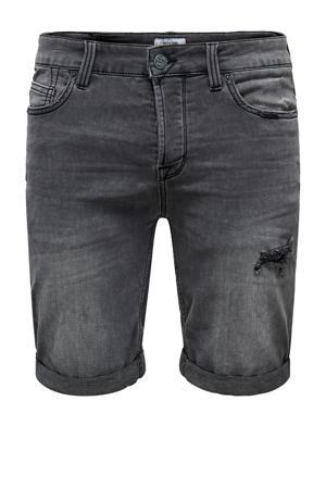 regular fit jeans short Ply grijs