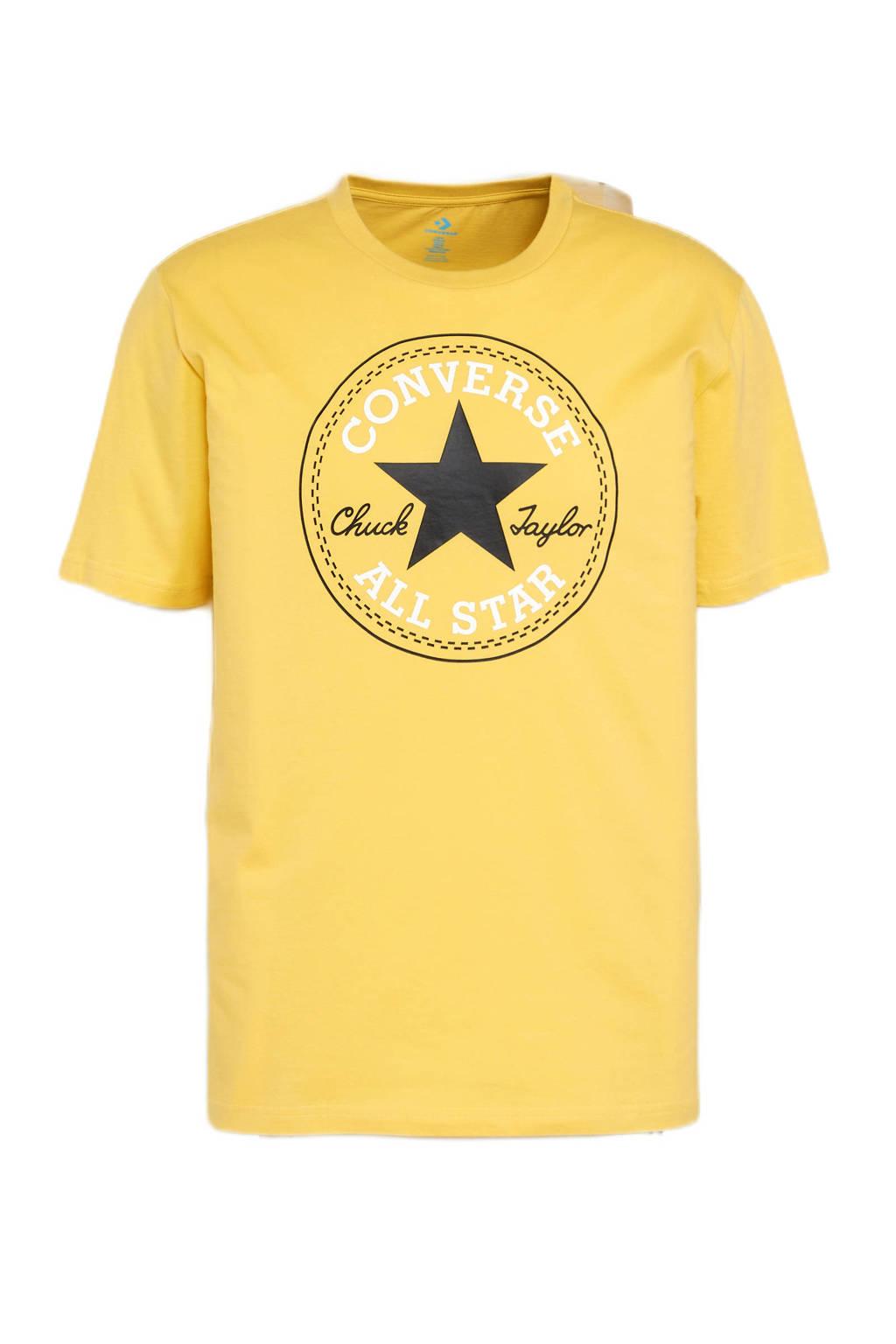 Converse regular fit T-shirt met printopdruk geel, Geel