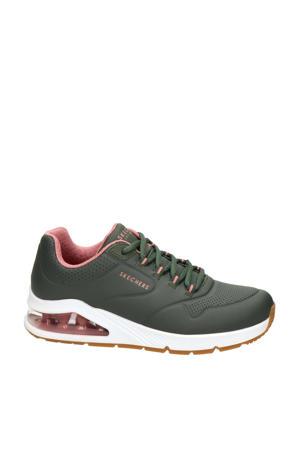 Uno 2  sneakers donkergroen/roze