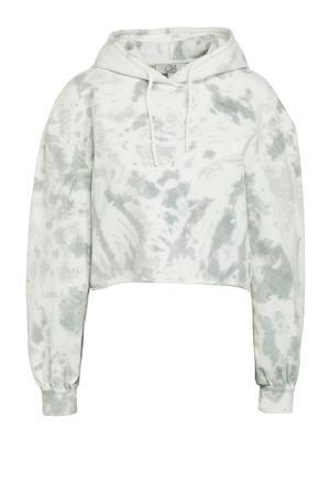 hoodie met all over print lichtgrijs