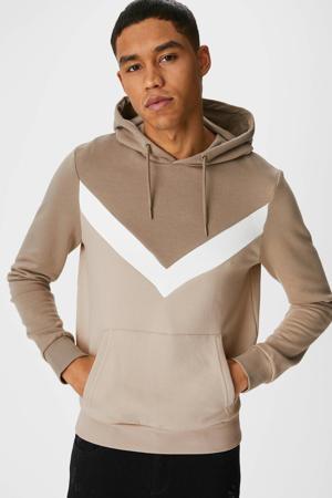 hoodie taupe
