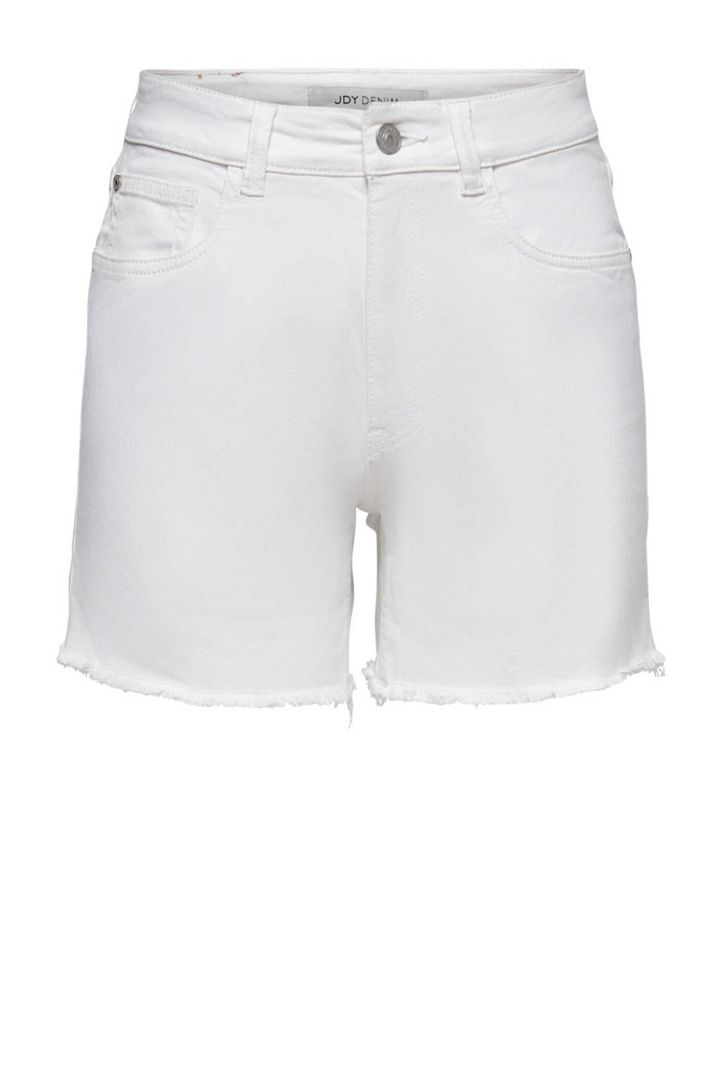 JDY high waist jeans short JDYOLIVIA wit, Wit