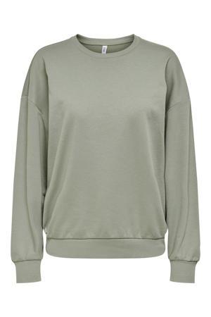 sweater vergrijsd groen