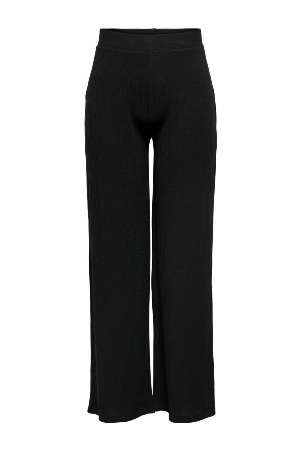ONLY wide leg palazzo broek ONLNELLA zwart, Zwart
