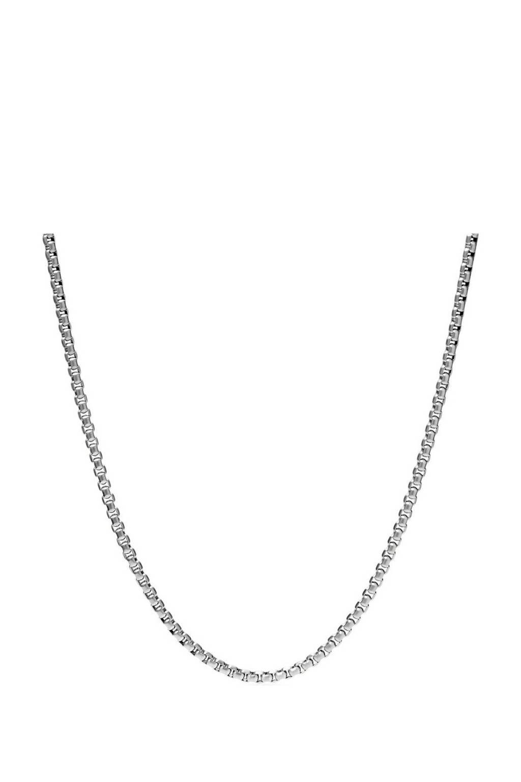 Fossil collier JF03723040 Vintage Casual zilver, Zilver