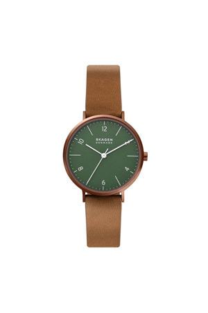 horloge SKW2973 Aaren Naturals Koper